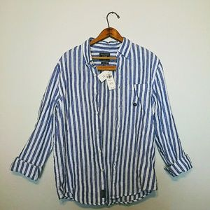 New Abercrombie & Fitch mens Linen flanel